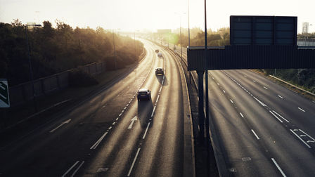 Motorway at sunset