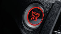 Close-up of start-stop button of Honda Civic 5-door.