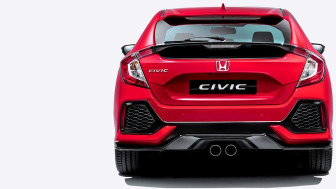 Achteraanzicht Honda Civic.