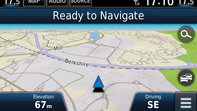 Close-up 7 inch navigation system Honda CR-V.