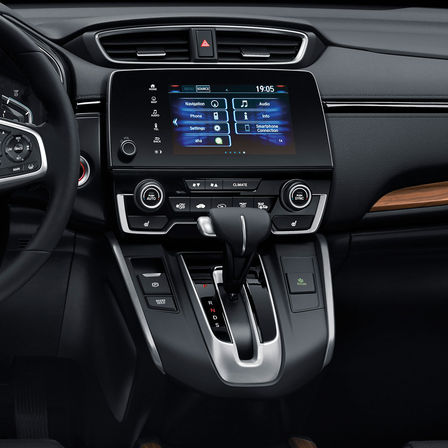 Zijaanzicht 7 inch infotainmentsysteem Honda CR-V.