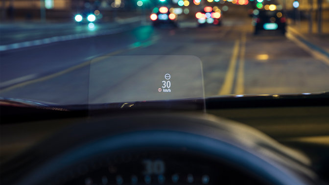 Close-Up head-up display Honda CR-V.