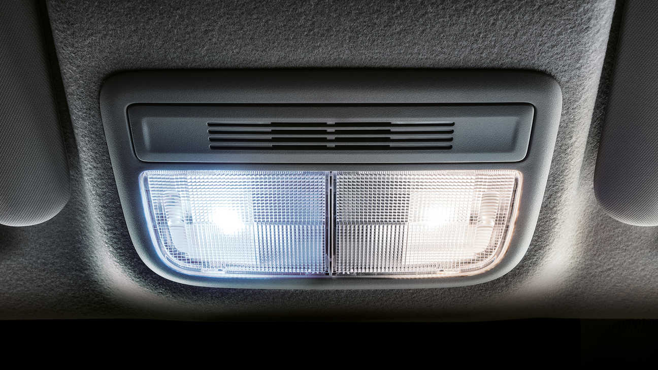 Detail LED-ruimteverlichting Honda Jazz.
