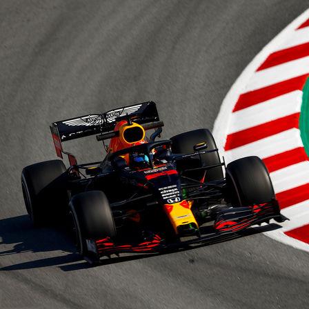 Uitsnede van de Aston Martin Red Bull Formule 1-auto.