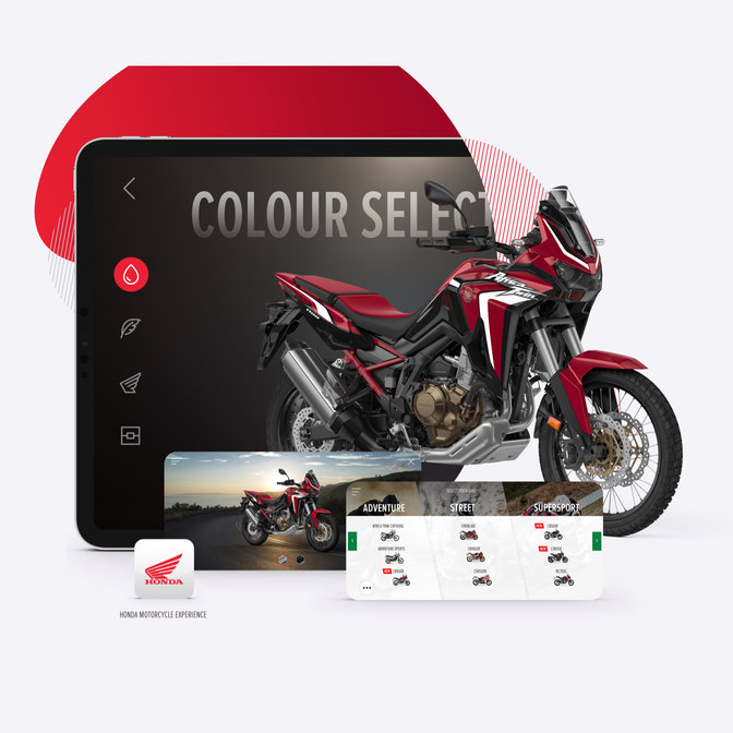 HONDA Africa Twin application customize 3D