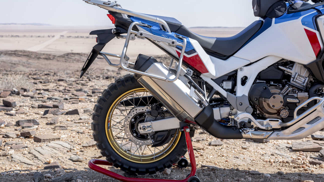Honda Africa Twin Adventure Sports, close-up van achterwiel