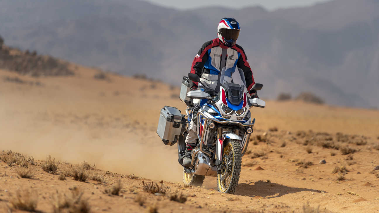 Honda Africa Twin Adventure Sports, ingezoomd op handgreep