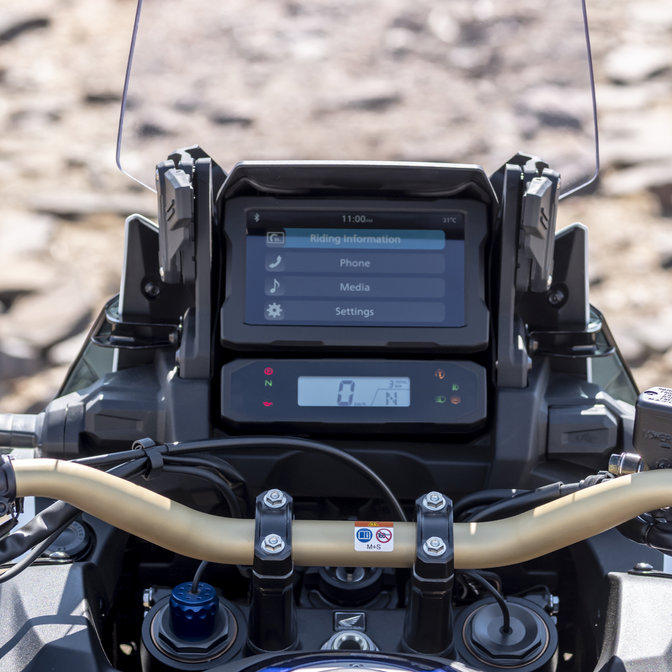 Honda Africa Twin Adventure Sports, zoom op meter