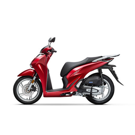 Honda SH125i, linkerkant, Pearl Splendor Red model