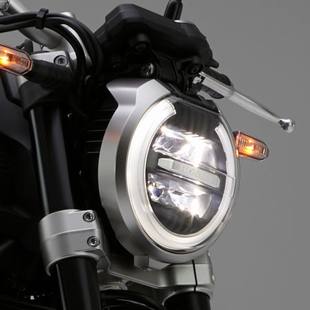 Close-up koplamp Neo Sports Café CB1000R.