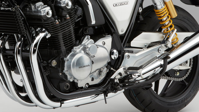 Close-up van motorblok Honda CB1100 RS.