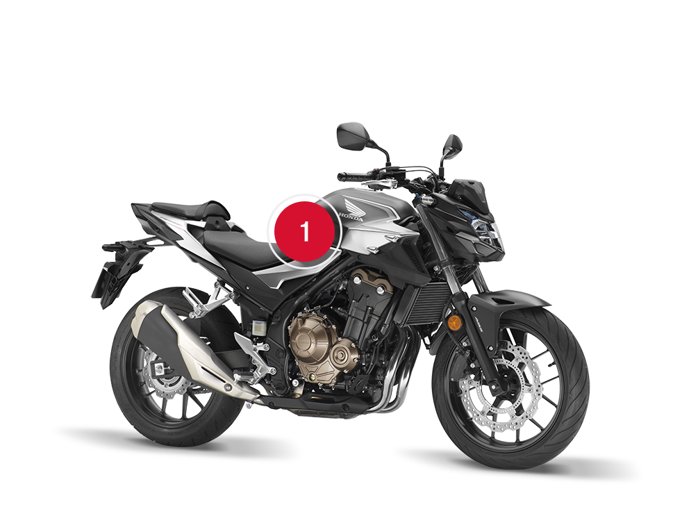 מרענן Overzicht – CB500F – Street – Aanbod – Motorfietsen – Honda HC-08