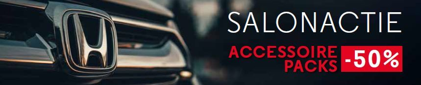 Honda salonactie -50% accessoire packs